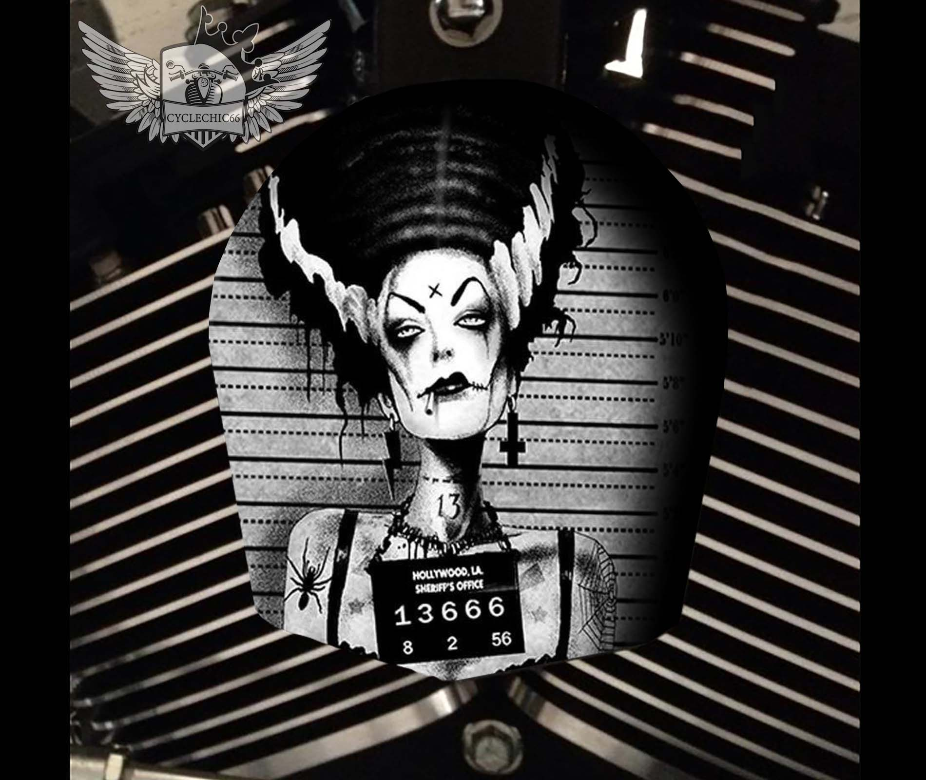 Harley Davidson Horn Cover - Bride of Frankenstein