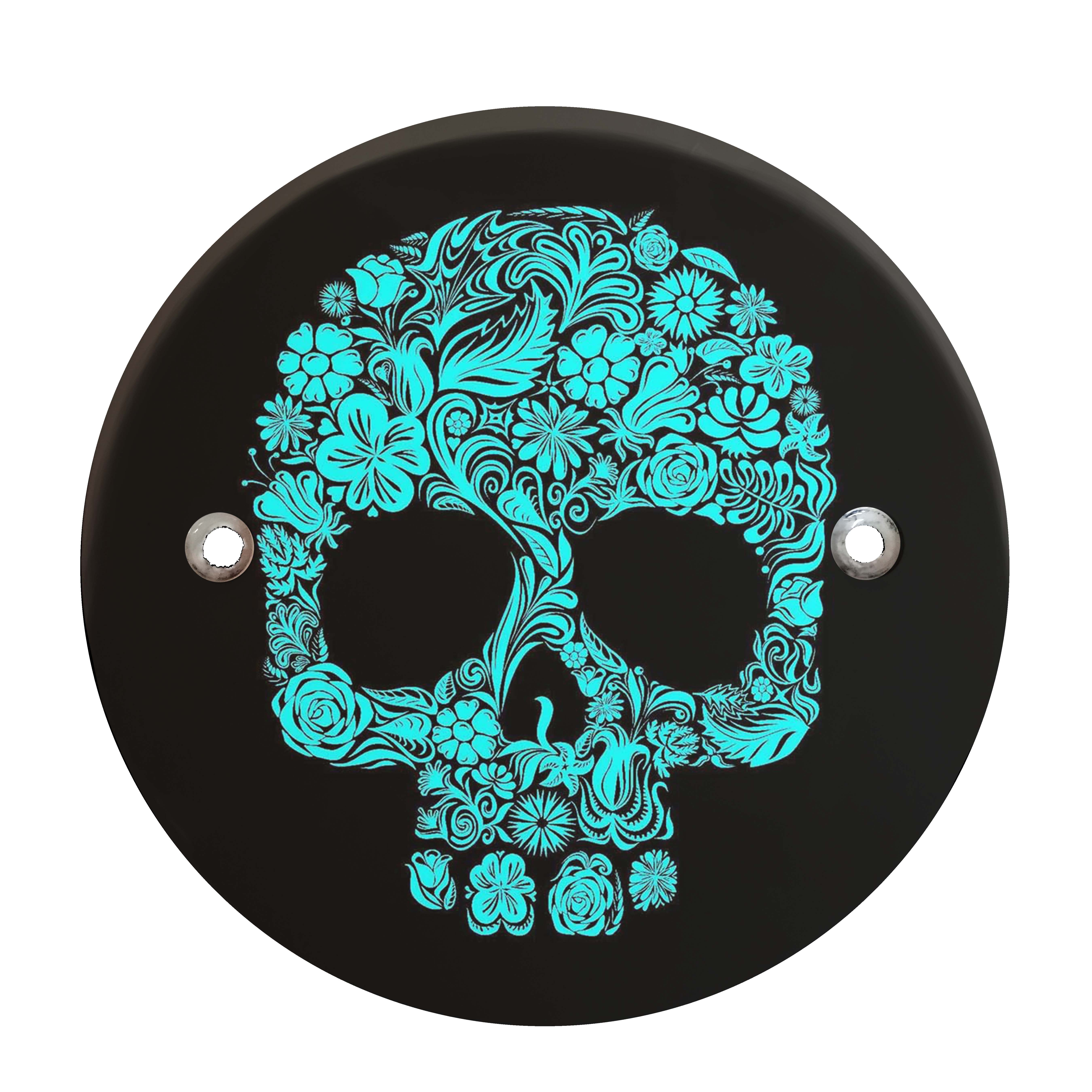 Victory Derby Cover - Blue Flower Skull