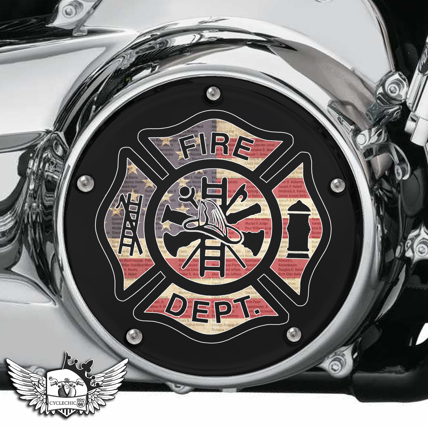 Harley Davidson Derby/Clutch Cover - Firefighter Rescue 2