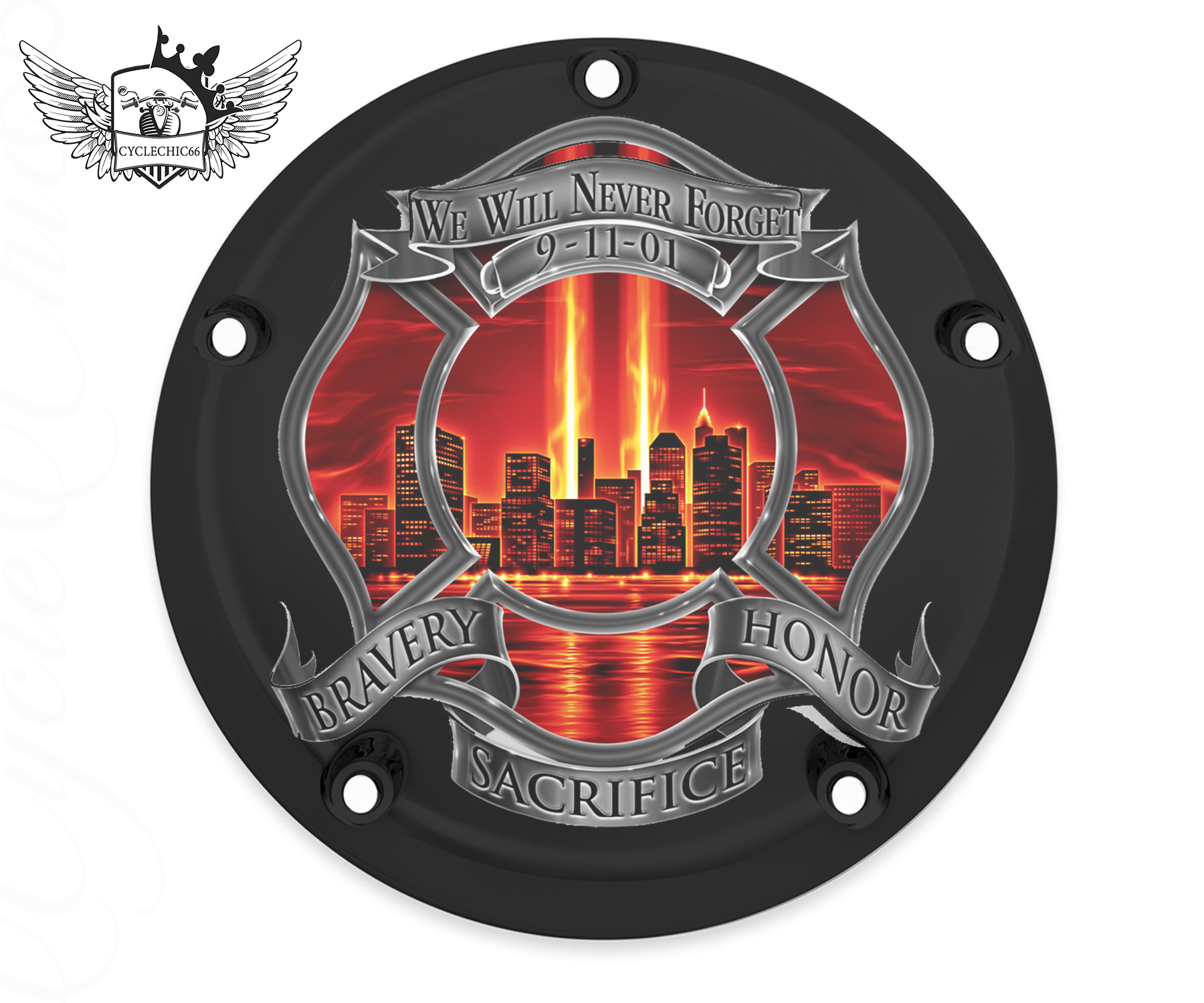 Harley Davidson Derby/Clutch Cover - Never Forget Red