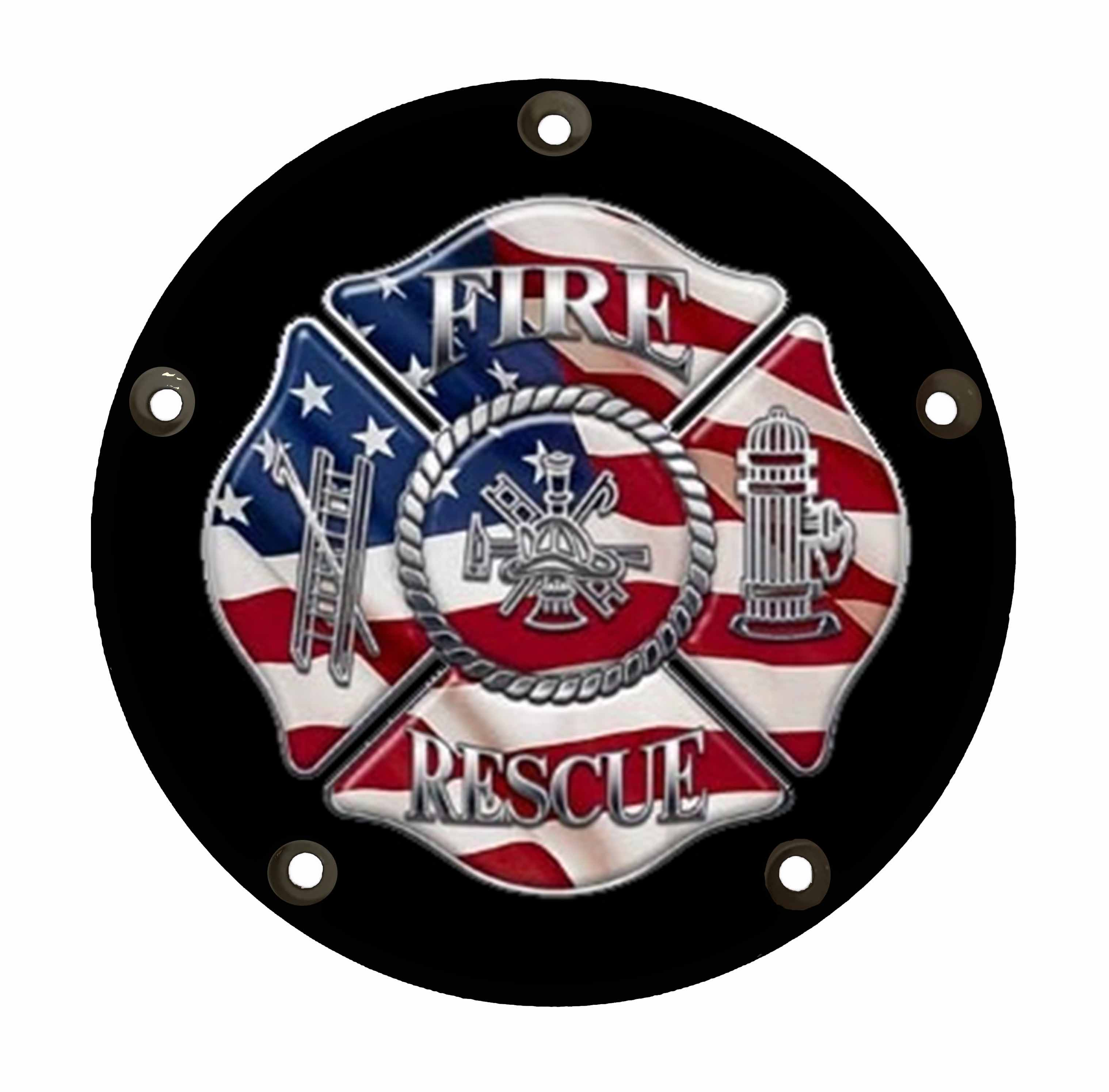 Harley Davidson Derby/Clutch Cover -Firefighter Rescue 3