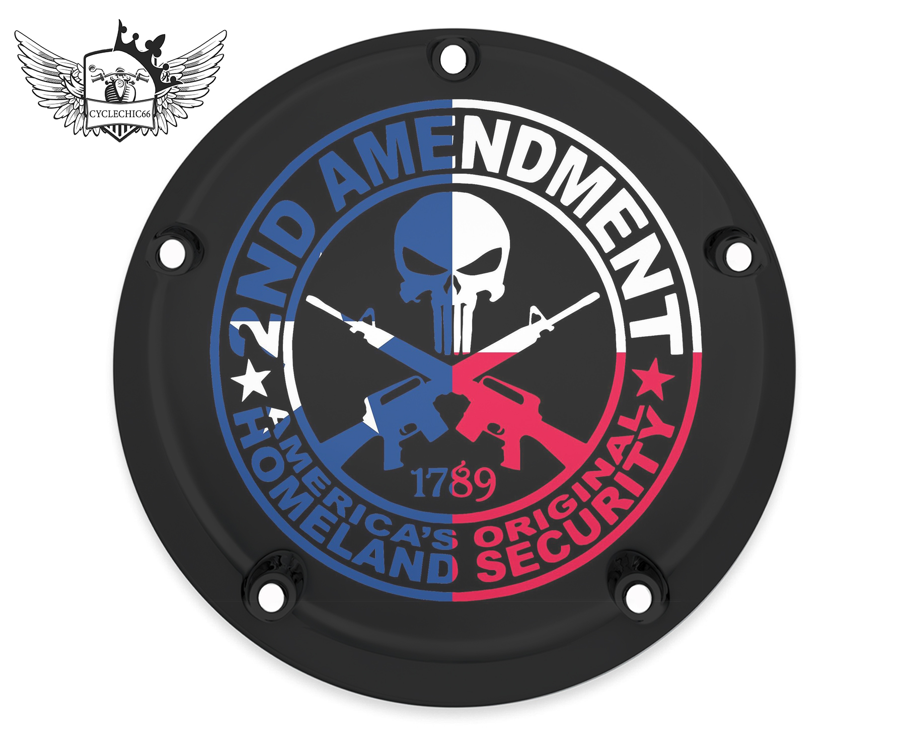 Harley Davidson Derby/Clutch Cover - Second Amendment